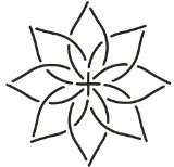 Quilting Creations Continuous Floral Border Quilt Stencil, 4″