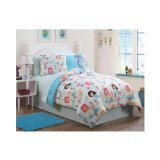 Reversible Mermaid Kids Girls Comforter Bed Bag Aqua Blue Pink Bedding Set with Sheets (Full) Includes Mouse Pad