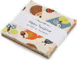 Happy Sunshine Moda Charm Pack By Keiki; 42 – 5″ Precut Fabric Quilt Squares