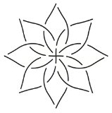 Quilting Creations Continuous Floral Border Quilt Stencil, 6″