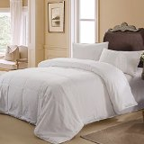Taihu Snow 100% Excellent Value Mulberry Silk Filled Plain Cotton Quilt Comforter White for All Season, King