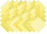 Fabri Quilt Yellow Blender Collection 40 Precut 5-inch Quilting Fabric Squares