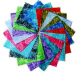 80 5″ Batik Tonal Quilting Fabric Charm Pack