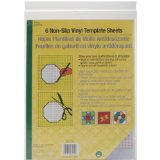 Dritz Quilting Non-Slip Vinyl Template Sheets, 6-Count