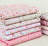 Generic Quarter Cotton Fabric Pink Little Flower Bundle Quilting Sewing Fabric 8 Designs Handicraft Arts Material Size 50cmx40cm Color Pink