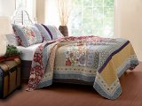 Greenland Home 3-Piece Geneva Quilt Set, King, Multi