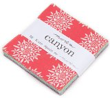 Canyon Charm Pack By Kate Spain; 42 – 5″ Precut Fabric Quilt Squares