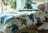 KIDS BOYS REVERSIBLE SINGLE BED DUVET QUILT COVER BEDDING SET - DINO DINOSAURS