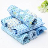 KINGSO 7PCS Cotton Fabric Bundles Quilting Sewing DIY Craft 19.7×19.7inch Light Blue