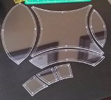 Double Wedding Ring Acrylic Quilting Template Set, 1/4