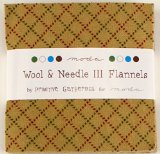 Wool & Needle III Flannels Moda Charm Pack By Primitive Gatherings; 42 - 5