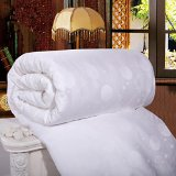 All Size Natural Mulberry Silk and Polyester Comforter Handmade White Air Conditioning Quilts (Winter King)