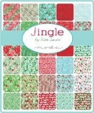 Moda JINGLE Precut 5-inch Charm Pack Cotton Fabric Quilting Squares Assortment Kate Spain 27210PP