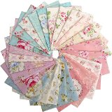 Lecien Japanese ROCCO & SWEET FLORAL Fat Quarters 25 Precut Cotton Fabric Quilting FQs Assortment