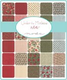 Moda UNDER THE MISTLETOE Precut 5-inch Charm Pack Cotton Fabric Quilting Squares Assortment 3 Sisters 44070PP