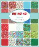 Moda HO! HO! HO! Precut 5-inch Charm Pack Cotton Fabric Quilting Squares Assortment Deb Strain 19700PP