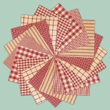 40 Rustic Red Charm Pack, 5 inch Precut Cotton Homespun Fabric Squares by Jubilee Creative Studio