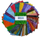 Benartex TIE-DYE BALI BATIKS Precut 5-inch Charm Pack Cotton Fabric Quilting Squares Assortment